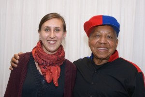 Stefanie Riedelbauch mit Ronnie Gardiner